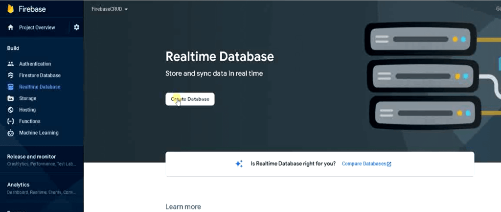 Crate a Firebase Realtime Database